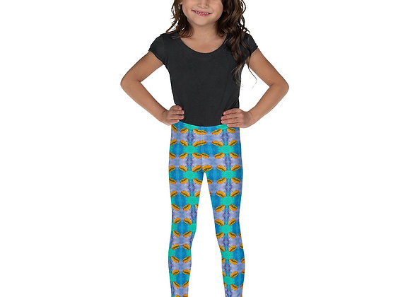 Kid's Hot Dog Print Leggings
