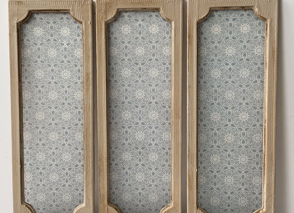 Reclaimed Shabby Cupboard door with patterned 'glass'