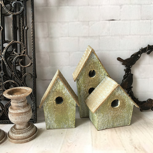 Set of 3 Bird boxes