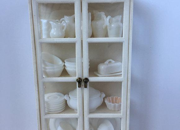 Slim glass sided display cabinet