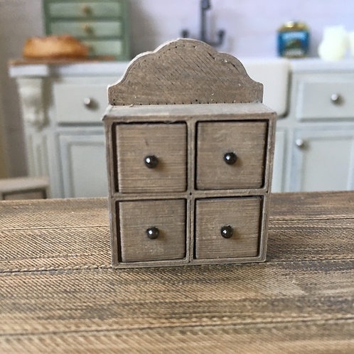 4 drawer spice/herb storage