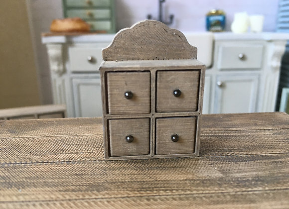 4 drawer spice/herb storage