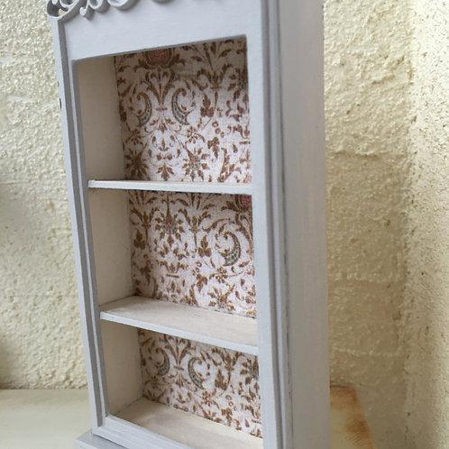 Filigree topped shelf