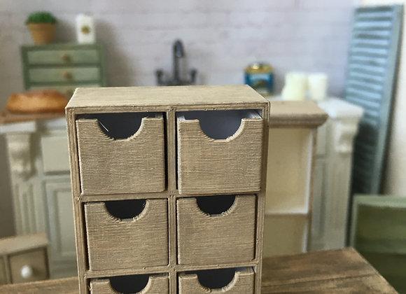 6 Scoop drawer chest