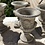 Thumbnail: 'Concrete' urns with floral emboss