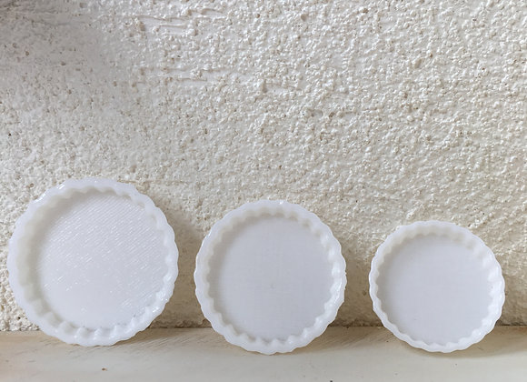 Set of 3 Flan dishes