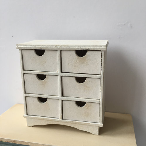 6 pull drawers piece