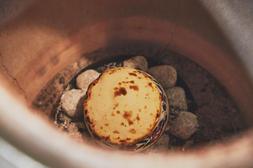 Slow cooked Biryani nearly ready to enjoy