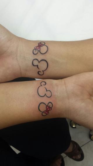 Tattoo Mickey & Minnie
