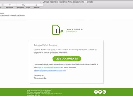 GUÍA RÁPIDA PARA FIRMA VÍA E-MAIL DEL LIBRO DE INCIDENCIAS ELECTRÓNICO