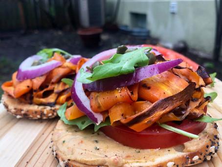 Carrot Lox Bagel Sandwich Recipe