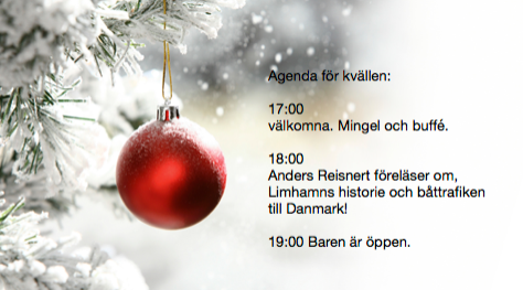 Välkomna på julmys, och föreläsning.