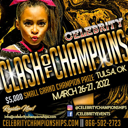 Celebrity Clash of Champions Flyer 2022.
