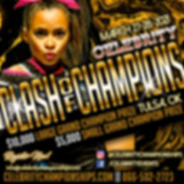 Celebrity Clash of Champions Flyer 2021.