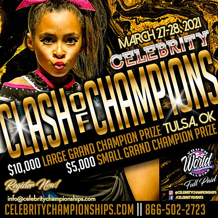 Celebrity Clash of Champions Flyer 2020-