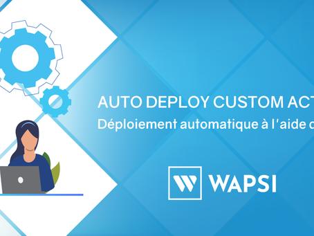 Auto Deploy Custom Actions avec Gitlab