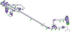 Modelo de cálculo para análise de tensões