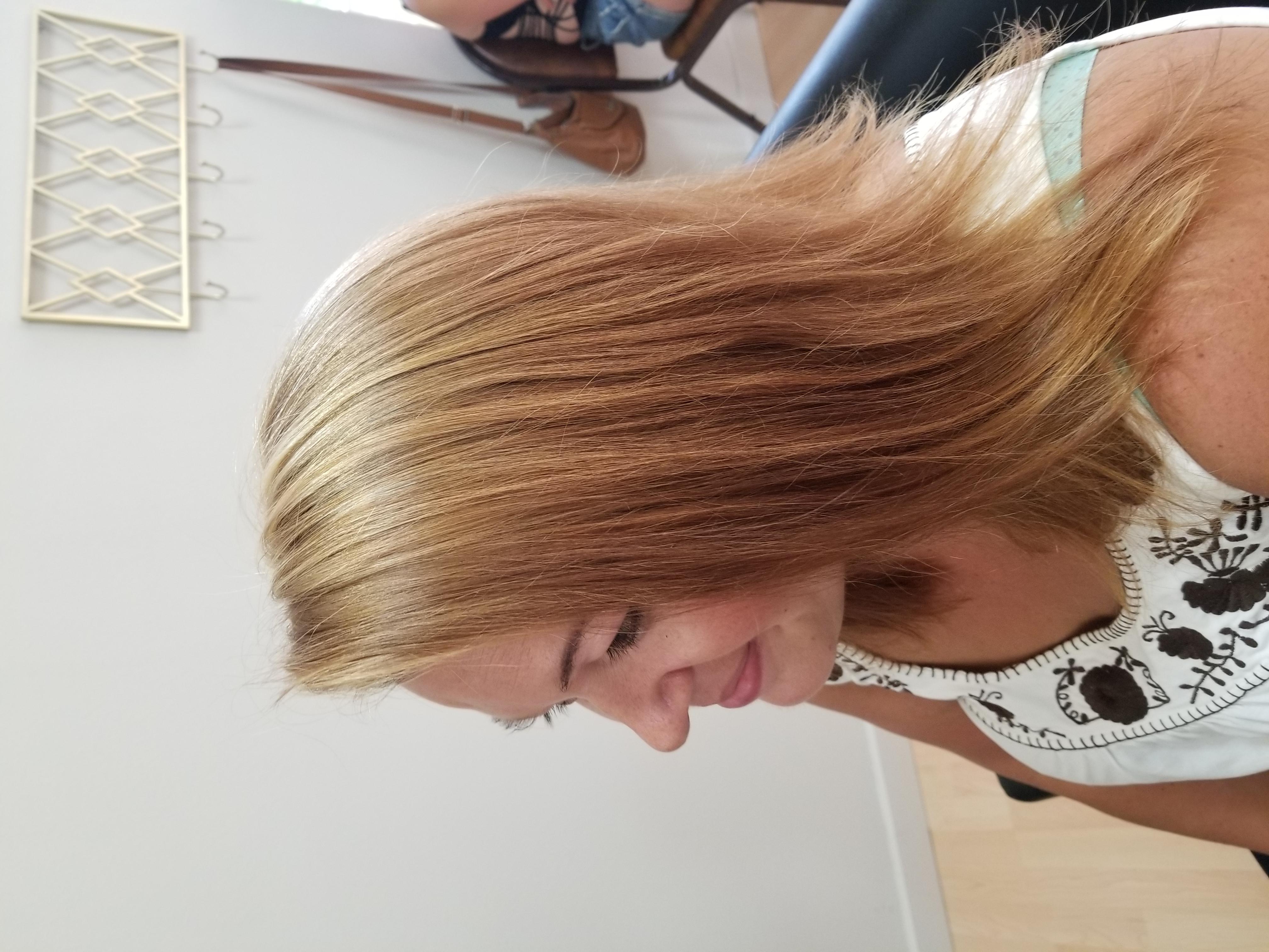 From dark to Blonde