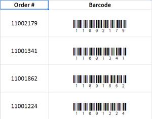 Creating Barcodes using fonts in Google Sheets