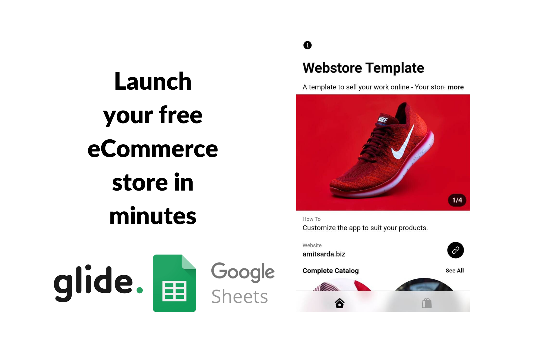 Launch your eCommerce Store in minutes using Glide Apps and Google Sheets