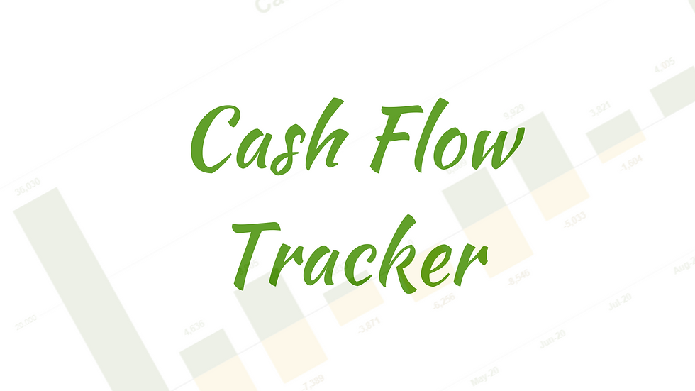 Cash Flow (Income Expense) Tracker in Google Sheets