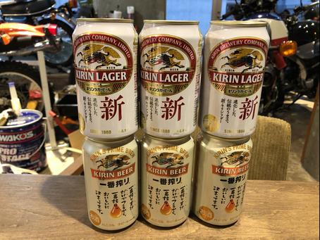 ビールとうどん