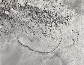 Lidar image of an ancient fishtrap at Cape Missiessy, WA