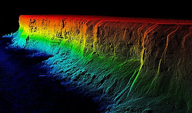 Lidar image of Nullarbor Cliffs (Riegl VUX-1UAV)