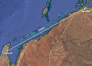 Pilbara Islands Flight Track