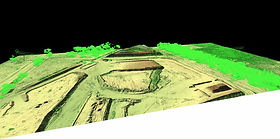 3D-Lidar view of construction site north of Adelaide, SA