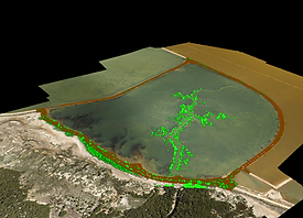 Lidar & RGB of saline pond XB8A near St. Kilda, SA
