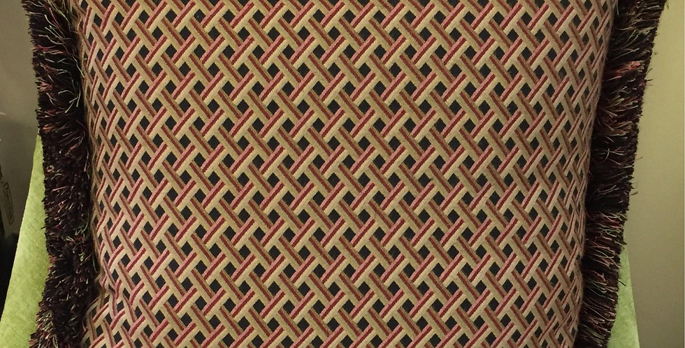Red - Green Basket Weave