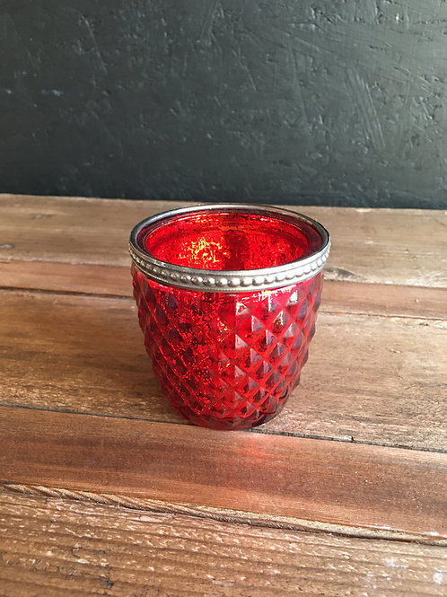 rotes Teelicht