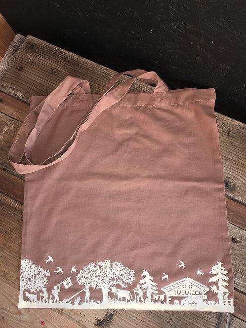 Stofftasche Scherenschnitt braun