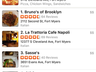 We're number 1 for Italian on Yelp!