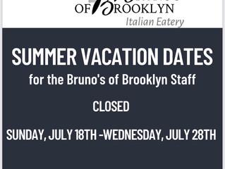 Summer Vacation Closure