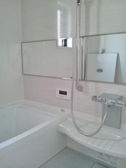 ラグジュアリーなバスルームと洗面室