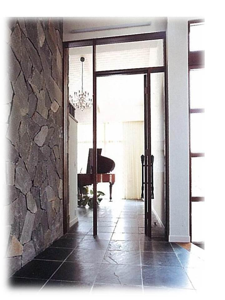 自然素材の家/リビング入口のこだわり