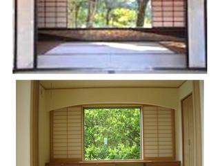 桂離宮と当社設計「百合丘の家」