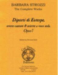 Barbara Strozzi Opus 7 cover