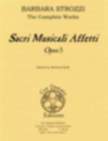 Barbara Strozzi sheet music Opus 5 Sacri musicali affetti sacred cantata