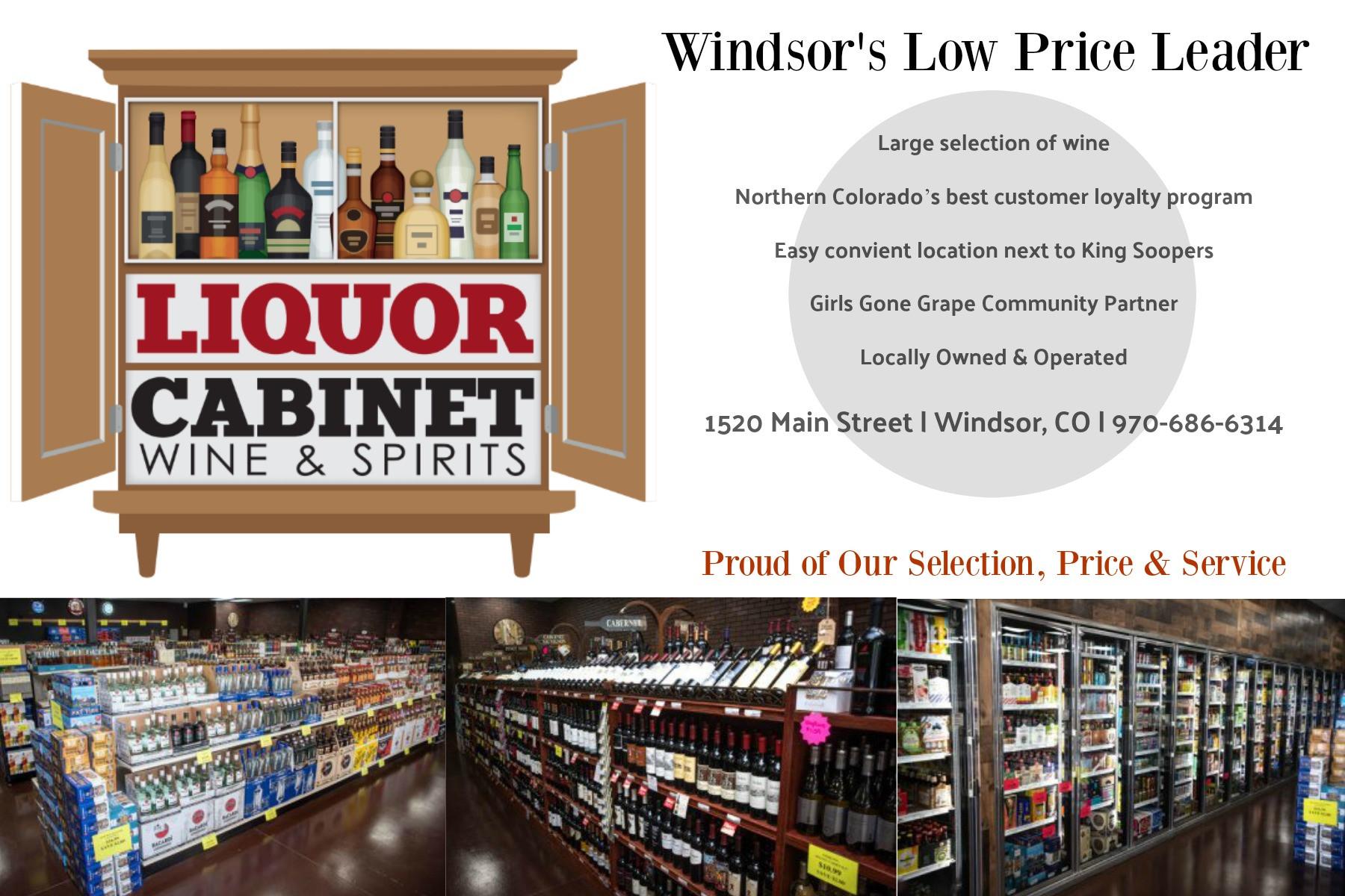 CO-Liquor Cabinet Wine & Spirits