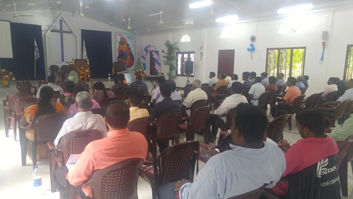 We ministered to at least 75 pastors (to