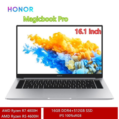 HONOR Magicbook Pro 2020 Laptop 16.1 Inch 7nm Process AMD Ryzen R5