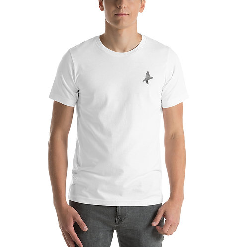 Short-Sleeve Unisex T-Shirt Small Custom Bird Branding on Front Left
