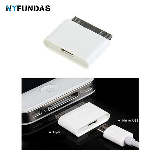 Micro Usb 30 Pin Female Male Connector Adapter for Apple Iphone 4 Ipod Iphone4