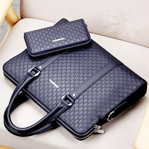 Casual Shoulder Bag Double Layers Laptop Bag Large Male Handbag Travel Bag