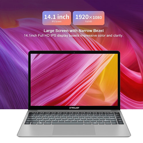 14.1 Inch Notebook Windows 10 HD Intel Quad Core 1.1 GHz 8 GB RAM 256 GB SSD