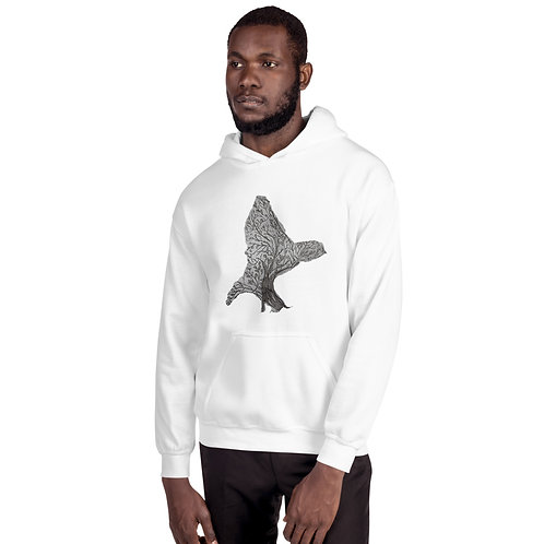 Unisex Hoodie With Custom Bird Design