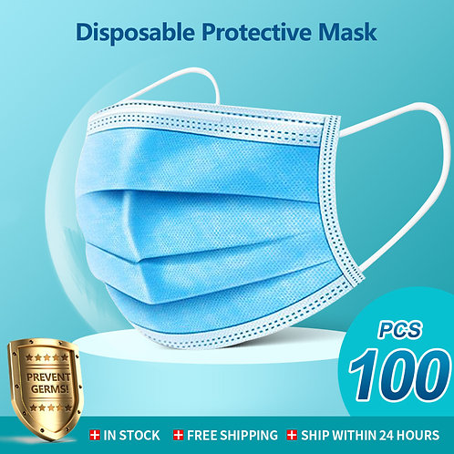 50/100pcs Face Mask Disposable 3 Ply Mouth Mask Filter